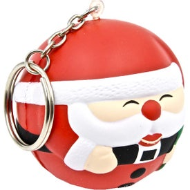 Personalized Santa Ball Keychain Stress Toy