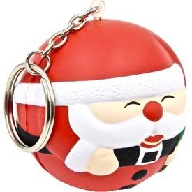 Personalized Santa Ball Keychain Stress Toy