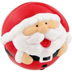 Printed Santa Ball Stress Toy