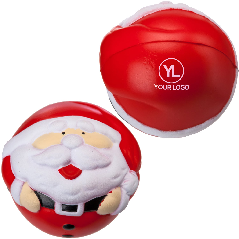 Red/White Santa Claus Stress Ball (Economy) Personalized