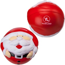 Santa Claus Stress Ball with Your Slogan