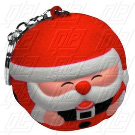 Santa Claus Stress Ball Key Chain