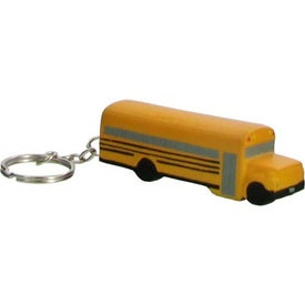 School Bus Key Chain Stress Ball Printed with Your Logo