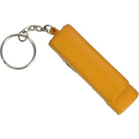 School Bus Key Chain Stress Ball for Promotion