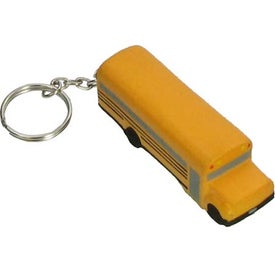 Customized School Bus Key Chain Stress Ball