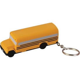 School Bus Key Chain Stress Ball