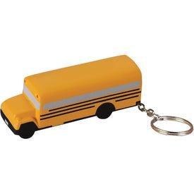 School Bus Key Chain Stress Ball