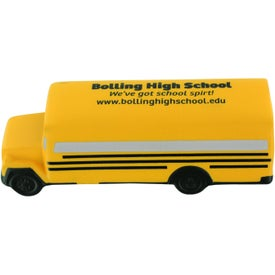 Advertising Conventional School Bus Stress Ball