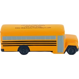 Printed School Bus Stress Toy
