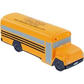 Printed School Bus Stress Toy