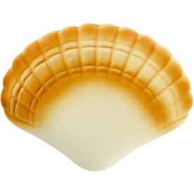 Monogrammed Seashell Stress Toy