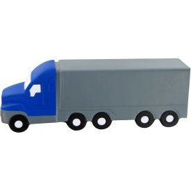 Semi Truck Large Stress Toy Imprinted with Your Logo