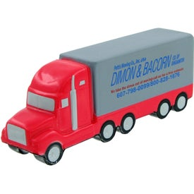 Custom Semi Truck Stress Toy Printed with Your Logo