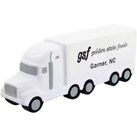 Advertising High Detail Semi Truck Stress Toy