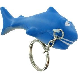 Promotional Shark Stress Ball Key Chain