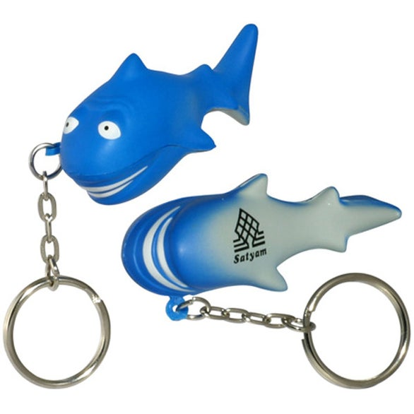 Blue Shark Stress Ball Key Chain