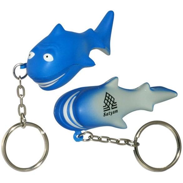 Shark Stress Ball Key Chain