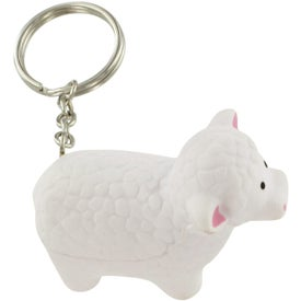 Branded Sheep Stress Ball Key Chain
