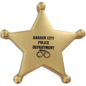 Imprinted Sheriff's Badge Stress Ball