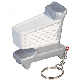 Shopping Cart Key Chain Stress Ball for Your Organization