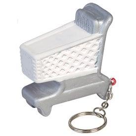 Shopping Cart Key Chain Stress Ball for Your Organization