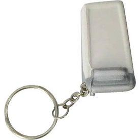 Customized Shopping Cart Key Chain Stress Ball