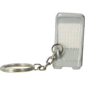 Shopping Cart Key Chain Stress Ball Branded with Your Logo