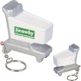 Shopping Cart Key Chain Stress Ball