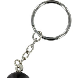 Sitting Penguin Stress Ball Key Chain for Marketing
