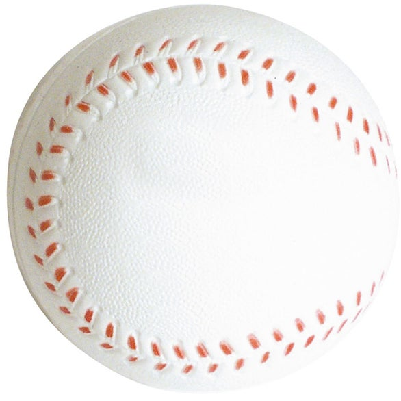 White Slow Return Foam Baseball Stress Reliever