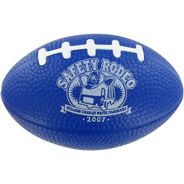 Blue Small Football Stress Toy