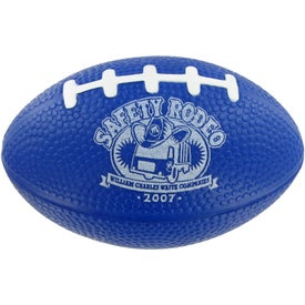 Small Football Stress Toy Imprinted with Your Logo