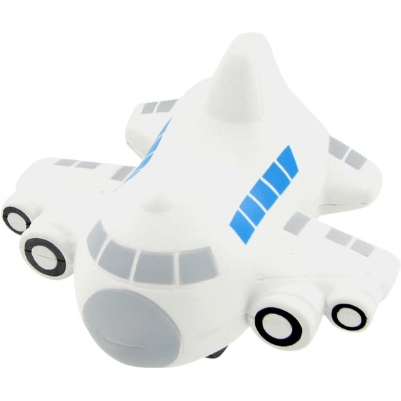 Gray / Blue Windows Small Airplane Stress Toy