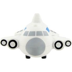 Logo Small Airplane Stress Toy