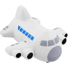 Imprinted Small Airplane Stress Ball