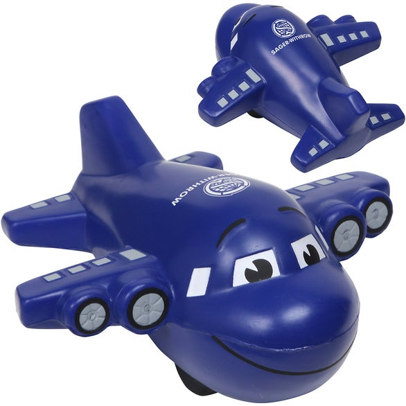 Blue Large Airplane Stress Ball