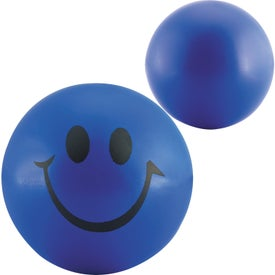 Smiley Face Stress Balls with Your Slogan