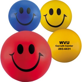 Smiley Face Stress Balls Branded with Your Logo