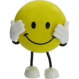 Monogrammed Smiley Face Bendy Stress Reliever