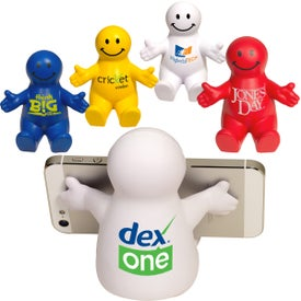 Printed Smiley Guy Mobile Device Holder