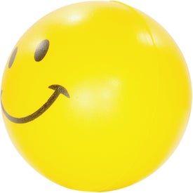Smiley Face Stress Reliever Branded with Your Logo