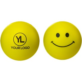 Branded Smiley Face Stress Reliever