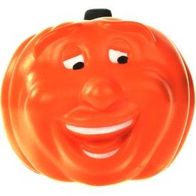 Imprinted Smiling Pumpkin Stress Ball