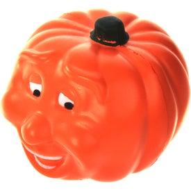 Logo Smiling Pumpkin Stress Ball