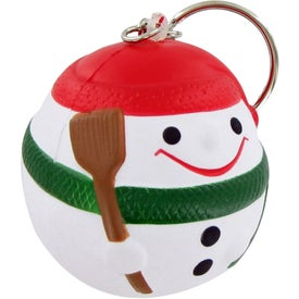Promotional Snowman Ball Keychain Stress Toy