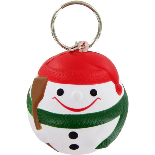 See Item Snowman Ball Keychain Stress Toy