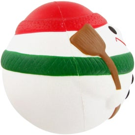 Snowman Ball Stress Toy Branded with Your Logo