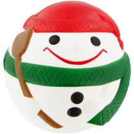 Logo Snowman Ball Stress Toy
