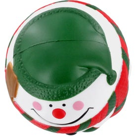 Snowman Stress Ball with Your Slogan