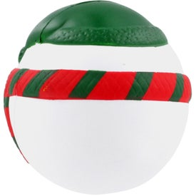 Imprinted Snowman Stress Ball